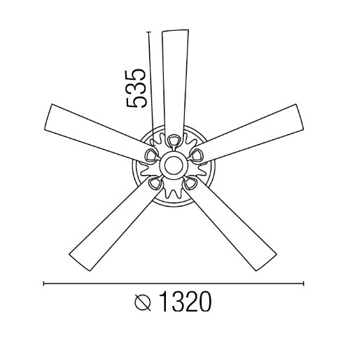 Ventilatore da soffitto Hunter Savoy Lorefar 33053