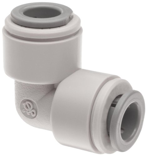 """Celcon Push-To-Connect Tube Fitting, Acetal Copolymer, 90 Degree Elbow, 5/16"""" Tube Od"""
