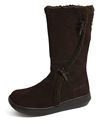 New Ladies/Womens Brown Rocket Dog Calf Length Suede Snug Boot - Tribal Brown - UK SIZE 8