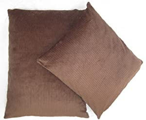 "Brown Corduroy Pet Dog Cat Bed Bean Bag Cushion 24"" x 28"" by Sold By Hallways"