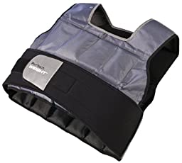 Perfect Fitness Weight Vest, 20-Pound, Grey