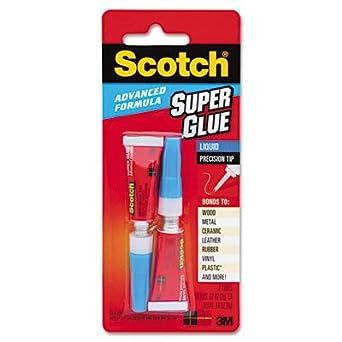 Scotch 81888564SEMQ3 Single Use Liquid Super Glue, 1/2 gm Tube (Pack of 3)