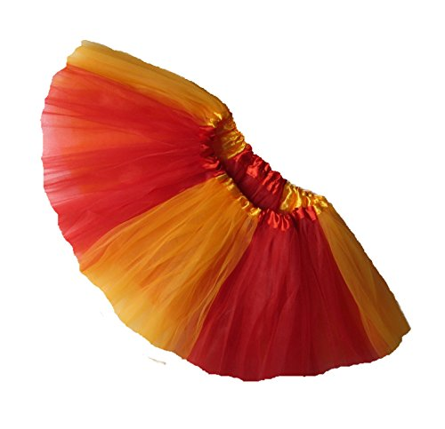 Southern Wrag Co ADULT TEAM SPIRIT Tutu RED GOLD Waist 20-42 Length 11