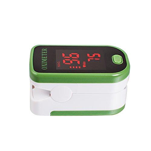 Denshine Pulsoximeter Finger Tip Fingerspitze Sauerstoffmessgerät SpO2 PR Pulsmesser Grün
