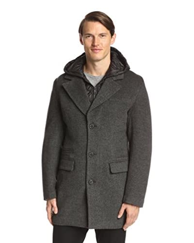 7 for All Mankind Men's Twill Coat with Removable Hood
