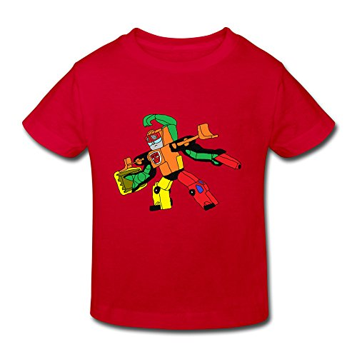 Toddler's Transformers Robots In Disguise Cool T-Shirt Red US Size 4 Toddler,100% Cotton