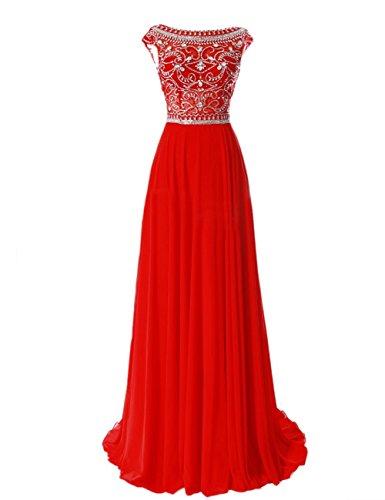 Tidetell-Elegant-Floor-Length-Bridesmaid-Cap-Sleeve-Prom-Evening-Dresses