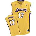 Buy adidas Los Angeles Lakers Andrew Bynum Youth (Sizes 8-20) Revolution 30 Replica Home Jersey by adidas