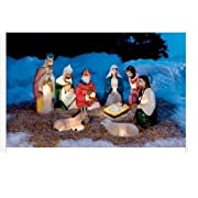 9pc Lighted Christmas Complete Nativity Set