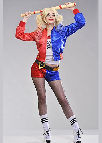 Womens Suicide Squad Harley Quinn Costume S (UK 8-10)