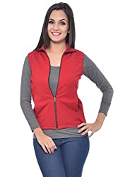Frenchtrendz Red sleevless Jacket