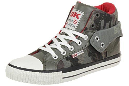 British Knights ROCO BK Herren Sneaker B34-3740-01 dunkelgrau camo, Schuhgröße:EUR 44