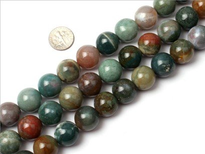 16mm Round Gemstone indian agate beads strand 15