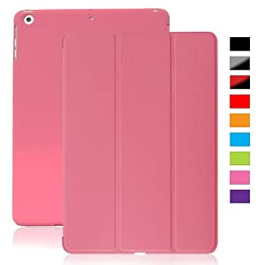 KHOMO iPad Mini / iPad Mini Retina / iPad Mini 3 Case - DUAL PINK Super Slim Cover with Rubberized back and Smart Feature (Built-in magnet for sleep / wake function) For Apple iPad MINI 1 / 2 / 3 Tablet