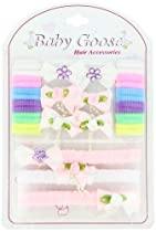 Baby Goose Hair Accessories, Pink/White/Multi