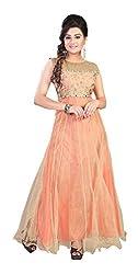 AVSAR PRINTS Women's Georgette Dress Material (Orange)