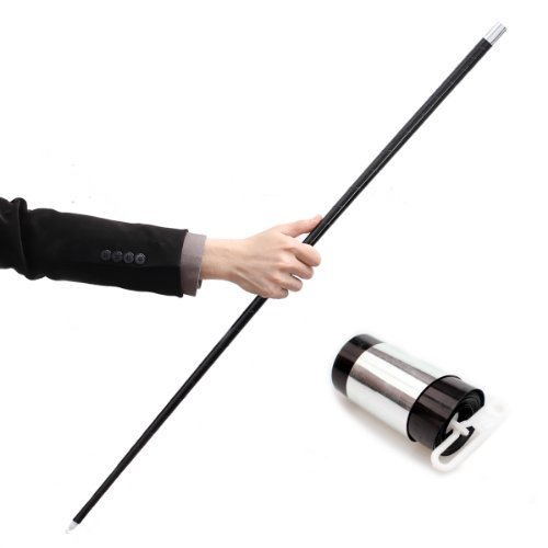 Black Plastic Appearing Cane with Video Tutorial - Stage Magic Trick - 1