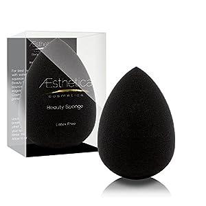Aesthetica Cosmetics Beauty Sponge Blender - Latex Free and Vegan Makeup Sponge - For Powder, Cream or Liquid Application - One Piece