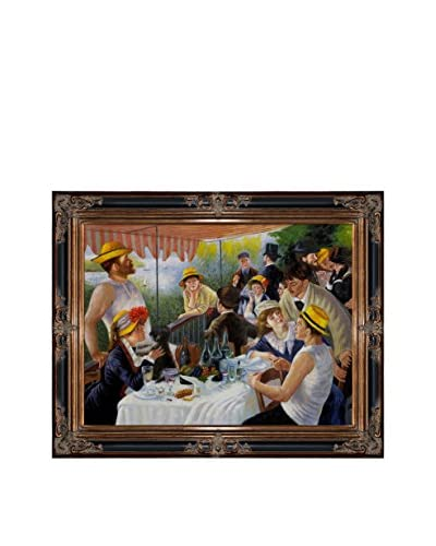 Pierre Auguste Renoir's Luncheon Of The Boating Party Framed Hand Painted Oil On Canvas