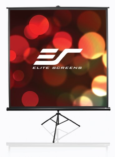 Elite Screens T99UWS1 Tripod Portable Projection Screen (99 inch Diag. 1:1 Viewable 70