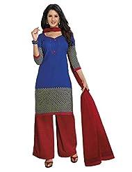 AASRI Women Cotton Unstitched Salwar Suit - B015N8P2BA