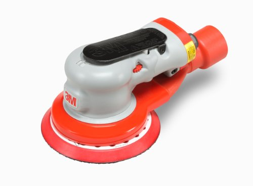 "3M Random Orbital Sander - Elite Series 28504, Air-Powered, Central Vacuum, 5 Inch, 5/16"" Orbit"