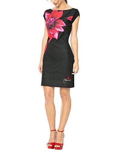Desigual Damen A-Linie Kleid ISLA REP, Knielang, Gr. 32 (Herstellergröße: XS), Schwarz (NEGRO 2000) thumbnail