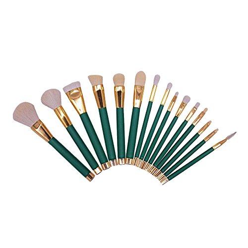 Contever® 15 pz Pro Pennelli per trucco Makeup Brushes Cosmetics-Pennello (Verde)