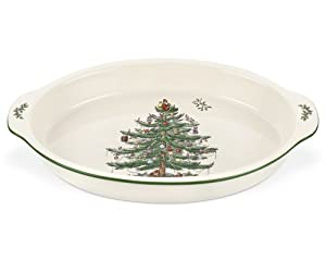 #!Cheap Spode Christmas Tree Au Gratin Dish 14-Inch