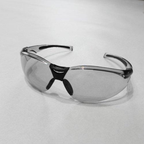 花粉症対策めがね 紫外線防止サングラス (花粉防止ゴーグル 保護メガネ) アイケアグラス エリカオプチカル おしゃれ UVカット率99%以上 (グレー)