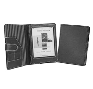 Cover-Up Kobo Glo eReader Cover Case With Auto Sleep / Wake Function (Book Style) - (Black)