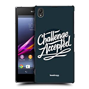 Head Case Designs Challenge Accepted Beyond The Disability Hard Back Case Cover For Sony Xperia Z1 C6902