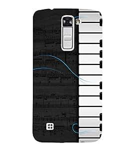 Piano Design 3D Hard Polycarbonate Designer Back Case Cover for LG K10 4G Dual