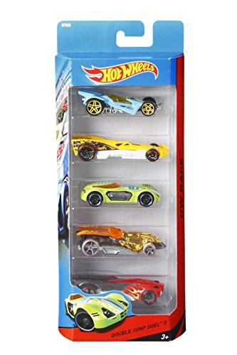 Hot Wheels-Confezione 5 Veicoli, Modelli Assortiti