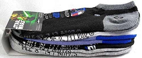 R2D2 3Cpo Costume Boys 5 Pairs Ankle Socks New In Package
