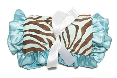 Minky Baby Blanket Zebra Ultra-Soft Minky Dots, 36IN X 30IN, Aquamarine