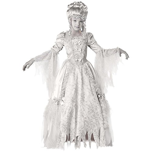 [GSG Ghost Costume for Kids Girls Corpse Countess Halloween Fancy Dress] (Gothic Maiden Costumes)