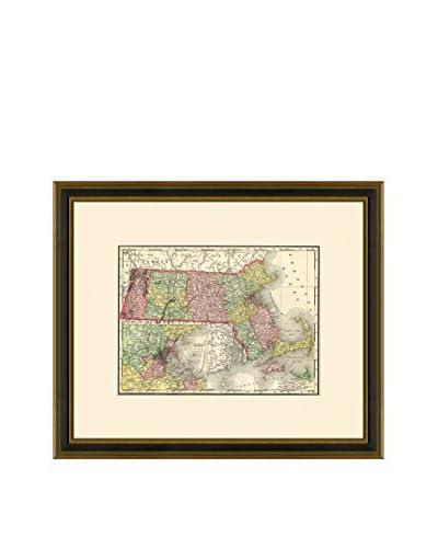 Antique Map of Massachusetts, 1886-1899