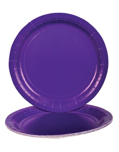 Purple Dinner Paper Plates (25 pc) - 1