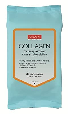 Purederm Makeup Remover Cleansing Towelettes (30 Towelettes Per Pack)