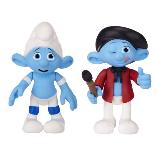 Smurfs Movie Basic Figure Pack Wave #2 Panicky Smurf And Painter Smurf - 1
