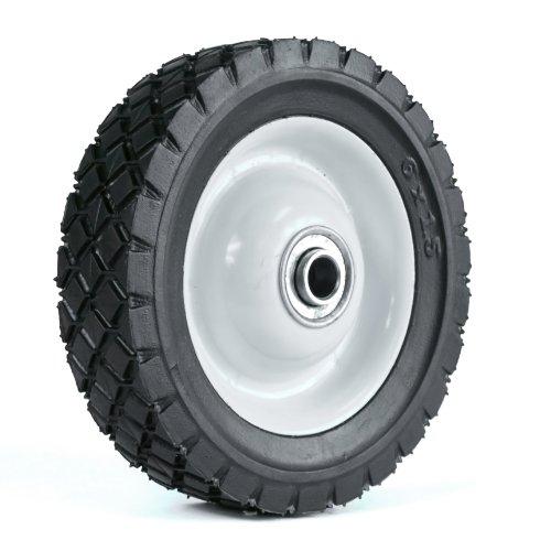 Martin Wheel 615 6 By 1.50-Inch Light Duty Steel Wheel For Lawn Mower, 1/2-Inch Ball Bearing, 1-3/4-Inch Centered Hub, Diamond Tread