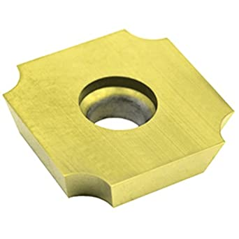 "Dorian Tool SDGX Multilayer Coated Carbide Square Convex Milling Indexable Insert, 0.0937"" Nose Radius, 3/4"" Insert, 3/16"" Thick (Pack of 10)"
