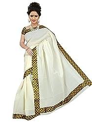 Brindavan Kerala Cotton Fancy Border Party Wear Saree with Matching Blouse Piece (19893216)