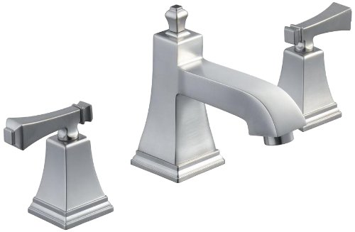 Pegasus 67390-8004 Exhibit Series 8-Inch Widespread 2-Handle Low-Arc Bathroom Faucet in Brushed Nickel