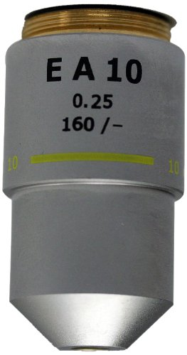 National Optical 710-155 Din 10X Objective Lens, 0.25 N.A., For 155 And 210 Compound Microscopes