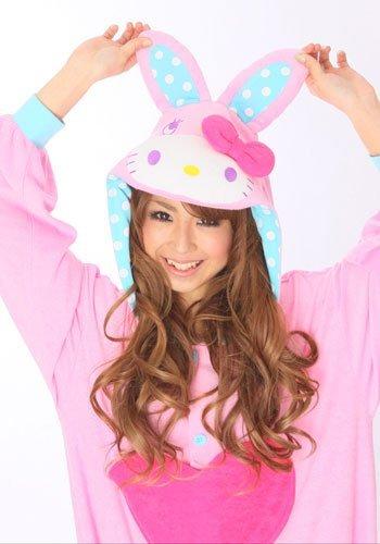Hello Kitty Bunny Pink Kigurumi - Adult Fancy Dress Pajama front-717121