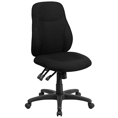 midback-black-fabric-multi-functional-ergonomic-swivel-task-chair