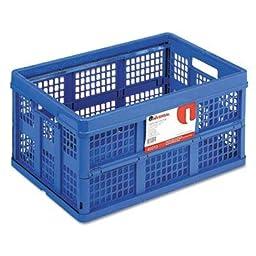 Universal - Filing/Storage Tote Storage Box Plastic 20-1/8 X 14-5/8 X 10-3/4 Blue \