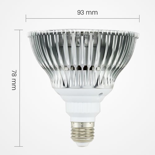 Led Par38 E27 12W 12X1W Energy Saving Spotlight Lamp Bulb Ac 110V Cool White Equivalent To 140W Traditional Bulb By Goodscity